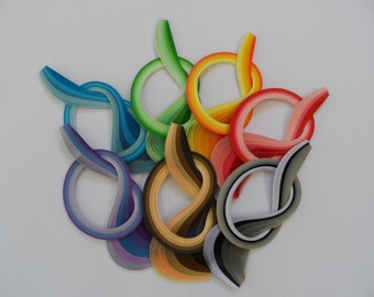Quilling Paper . Bulk Pack, 7 bundles, 700 strips.  4 different widths available