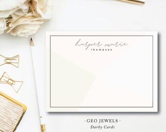 Modern Art Geo Jewels Stationery Notes