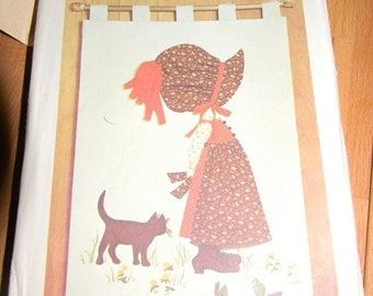 Simplicity Holly Hobbie Transfer Wall Hanging Pattern N 6544 Uncut 1974 Sizes One Size