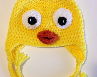 Cute Plucky Ducky Hat Pattern.
