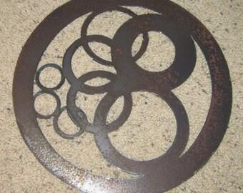 Circles in Circle-Metal Wall Art-Geometric Home Decor-Geometric art-Shape Art