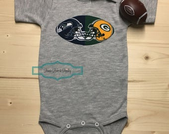 House Divided Baby ~ MANY Teams Available, Baby Football Outfit, Baby Shower Gift, New Baby Gift, Football Baby Outfit, Going Home Outfit