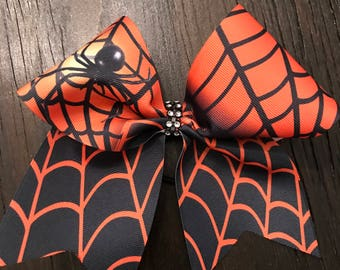 Ombre Spider Web Cheer Bow