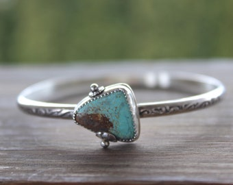 Sterling Turquoise Bangle, Natural Turquoise Bangle, Sterling Bangle, Silver Bangle, Turquoise Bangle, Turquoise Bracelet, Sterling Bracelet