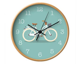 Bike wall clock Bike clock Bicycle wall clock Bicycle clock Nursery wall clock Nursery clock kids room decor kids room wall kids room clock