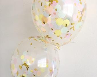 Rainbow Confetti Balloons Confetti Balloons Smash Cake Props Rainbow Party Unicorn Party Rainbow Balloons Rainbow Confetti Pastel Rainbow