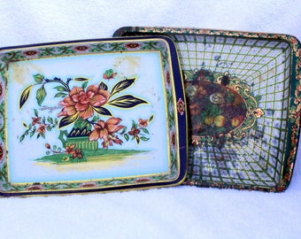 Vintage Serving Tray, Daher of England, Retro Serving Tray, Metal Serving Tray, Decorative Tray, Metal Tray, Collectible Trays
