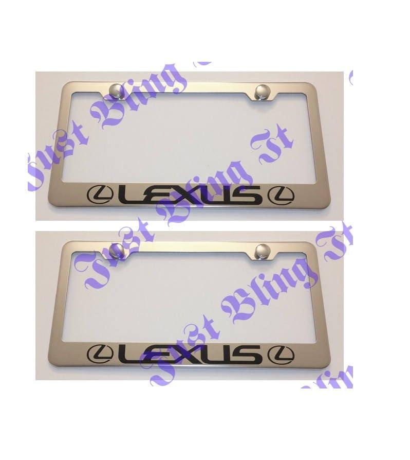 Zwei 2 X Lexus Edelstahl Nummernschild Rahmen Rost