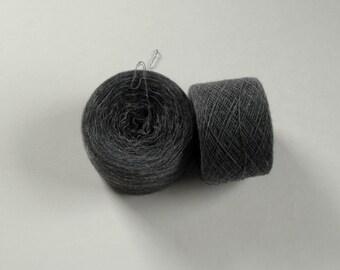 DARK SILVER 100% Cashmere 2110 yards recycled yarn