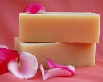 Aphrodite - Amber, Rose, & Ylang Ylang soap, handmade cold process, vegan friendly - inspired by Aphrodite (Venus) Goddess of Love