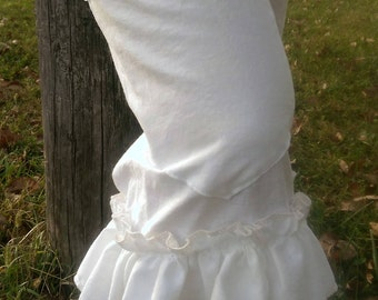 White Bloomers | Muslin Bloomers | Boho Bloomers | Ruffled Romance Bloomers with Pocket | Mori Girl Bloomers | The Wild Raspberry