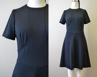 1960s Black A-Line Dress