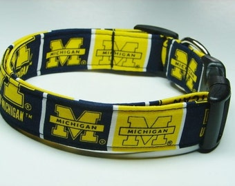 University of Michigan Wolverines Dog Collar
