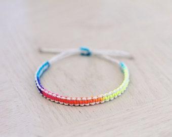 Natural Neon Cord Hemp Bracelet - Hemp Jewelry