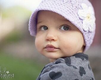 Newborn Hat, Baby Girl Hat, Crochet Baby Hat, Baby Newborn Hat, Newsboy Hat, Lavender, Newborn Prop, Girl Newsboy Hat, Baby Girl