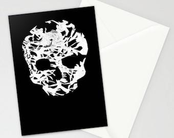 Decorative Stationary Set of 3 - Skull Print