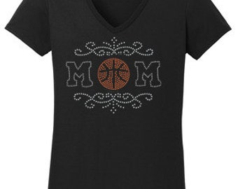 Softball or Baseball Mom Rhinestone T-Shirt Made to order