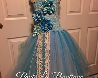 Blue tea party dress