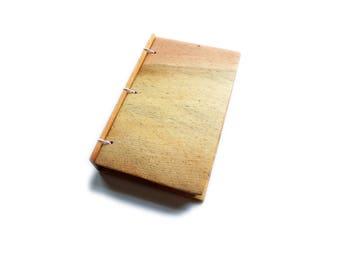 3x5 Pine Wooden Notebook Wood Journal Sketchbook Rustic Wood Wedding Guest Book Personalized Journal Refillable Journal Custom Journal