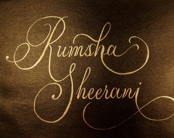 Calligraphy name design and logo