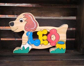 Wooden Dog  Bank