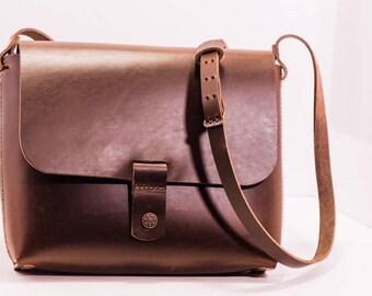 Carrie- Handmade Leather Cross-body Bag