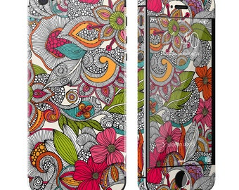 Doodles Color by Valentina Ramos - iPhone 5/5S Skin - Sticker Decal