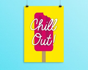Chill Out Popsicle Summer Wall Art