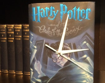 Harry Potter Collectable Book Clock- Harry Potter Gift for him or her- first anniversary gift- paper gift - book lover gift - Library decor