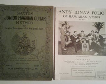 2 HAWAIIAN Music Sheets Books GUITAR UKELELE including Andy Iona and His Islanders