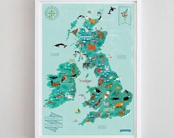A3 Wildlife of British Isles