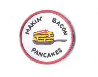 Adventure Time Patch - mini makin' bacon pancakes iron on Patches