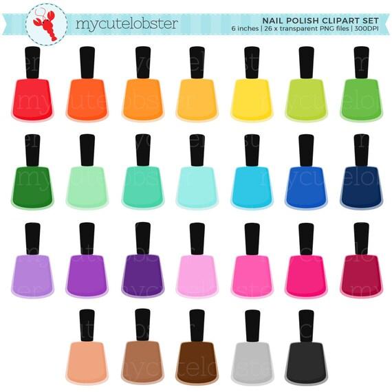 rainbow nail polish clipart set polish varnish clip art rainbow rh etsystudio com nail varnish clipart nail varnish clipart