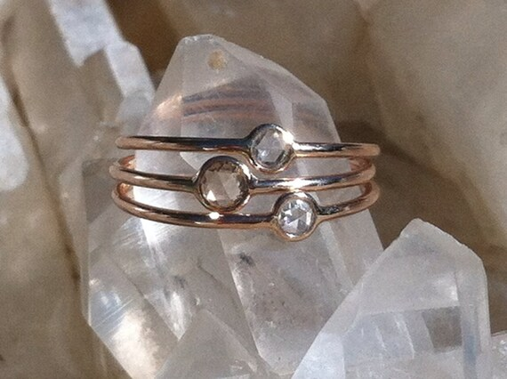 Conflict free diamond and solid 14k rose gold ring (sold separately)