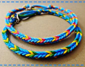 Rio Blu Inspired Handmade Friendship Bracelet Couple Bracelets Set of 2