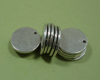 10pcs- Stamping Disk Antiqued Silver diam -17mm, thick- 1.5mm hole- 1.4mm