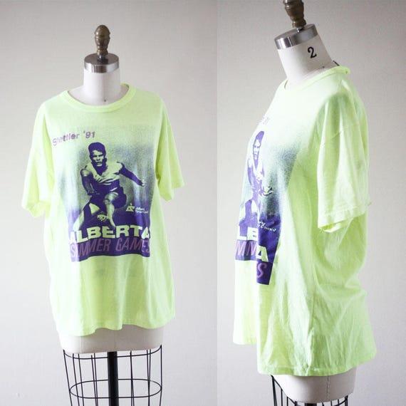 1990s Alberta Summer Games t-shirt // 1990s track t-shirt // vintage t-shirt