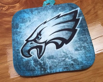 """PHILADELPHIA EAGLES potholder 8"""" square for kitchen BBQ grill Mother's Father's Day gift"""