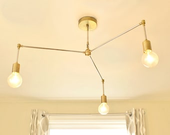 FREE SHIPPING!  The Frederic: Modern Brass Chandelier