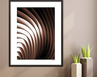 Digital Download Print Art Geometric Instant Download Abstract Printable Modern Art Print Dark Brown and White Wall Art Home Office Decor