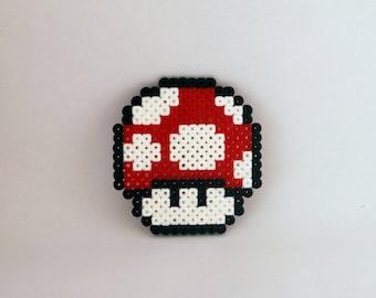 Pixel art / bead sprite of Mario mushroom