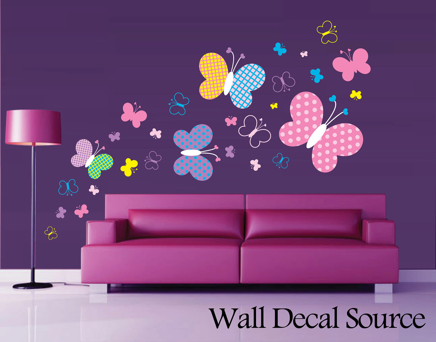 Patterned Butterfly Wall Decal Vinyl Butterfly Wall Decor for Butterfly Wall Decor Pattern  174mzq