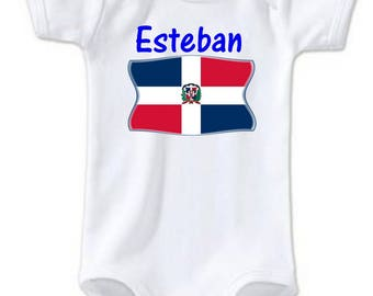 Dominican Republic baby personalized with name Bodysuit