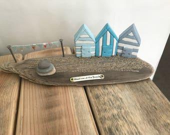 Driftwood beach huts