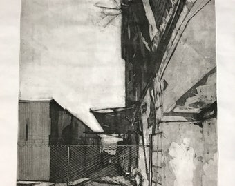 "9, Original Intaglio Print, 24"" x 36"""