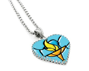 World religion unitarian church jewelry uu chalice jewelry unitarian church jewelry uu chalice jewelry heart glass pendant uu jewelry aloadofball Gallery