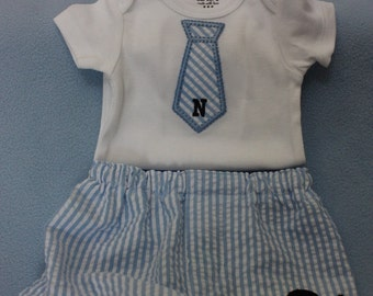 Baby boy 1piece outfit with boxer  to match