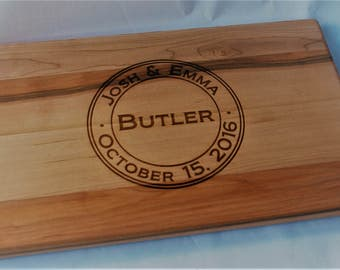 Personalized Cutting Board Engraved for Wedding, Anniversary, housewarming gift