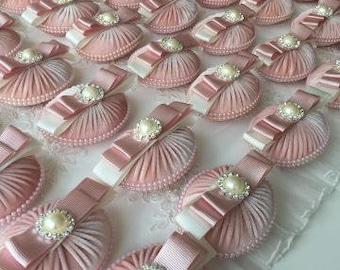 LUXURY Wedding Favour Soaps, wedding favors, bridal shower favors, soap favors, Velvet soaps, bow favours, handmade favors,