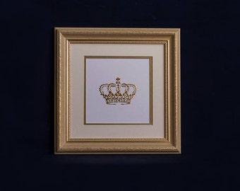 Crown wall decor, royal crown, gold crown, glitter crown, crown decor, crown art, crown wall, gold crown decor, yellow crown
